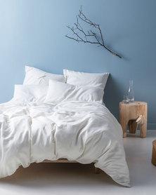 Linen House Nime Duvet Cover Set White