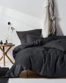 Linen House Grey Nime Duvet Cover Set Grey