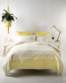 Linen House Pacey Duvet Cover Set Yellow