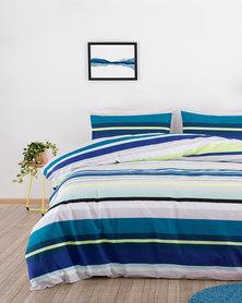 Linen House Nicola Duvet Cover Set Blue