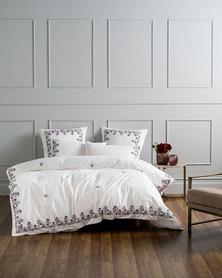 Linen House Darwin Duvet Cover Set White