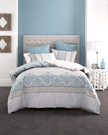 Linen House Arianna Duvet Cover Set Blue