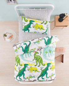 Linen House Dinotopia Duvet Cover Set Green