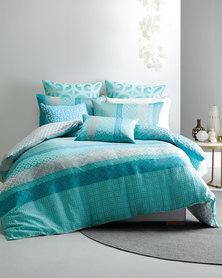 Linen House Novara Duvet Cover Set Blue
