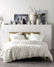 Linen House Haze Duvet Cover Set White