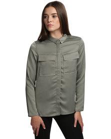 Linx Albury Pocket Shirt Green
