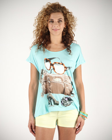 Linx Ladies T-Shirt Mint Blue