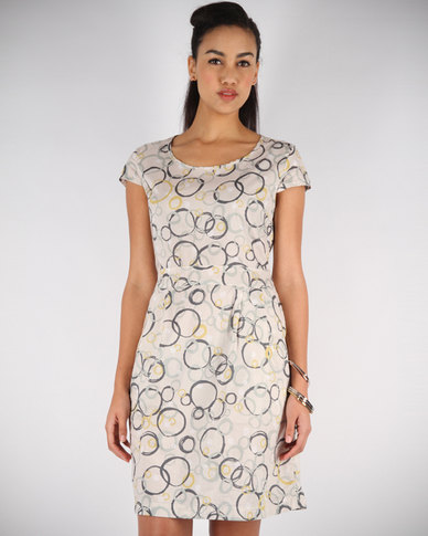 Linx Printed Dress Print Nude
