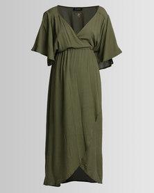Lisp Summer Flow Wrap Dress Aloe/Green