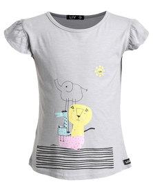 Liv Noah's Ark T-Shirt Silver Grey