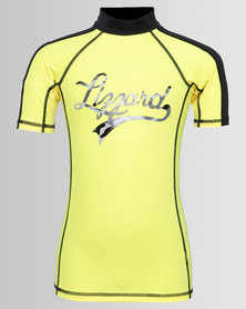 Lizzard Boys Mariano Rash Vest Yellow