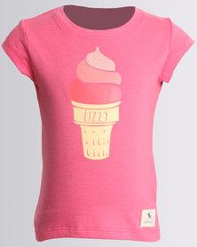 Lizzy Girls Serene Tee Rose