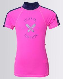 Lizzy Girls Elmina Rash Vest Pink