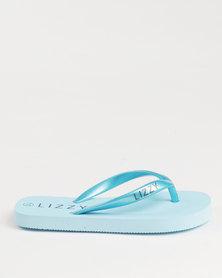 Lizzy Girls Teen Poppy Flip Flops Blue