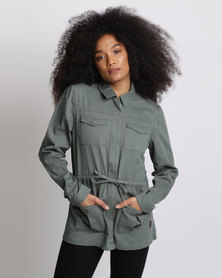 Lizzy Nistella Ladies Jacket Khaki Green