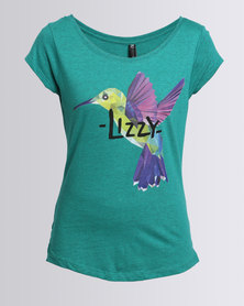 Lizzy Agapi Ladies Styled T-Shirt Blue