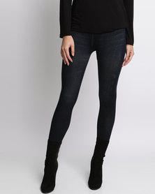 London Hub Fashion Denim Jeggings Black