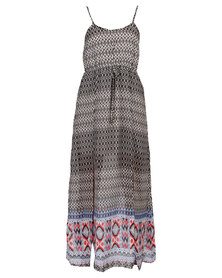 London Hub Fashion Maxi Dress Multi