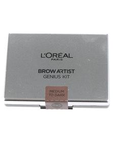 L'Oreal Brow Artiste Genius Kit Medium Dark 02