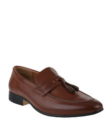 Luciano Rossi Formal Slip On Shoe with Tassels Tan