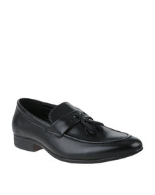 Luciano Rossi Formal Slip On Shoe with Tassels Black