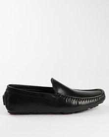 Luciano Rossi Casual Slip On Shoe Black