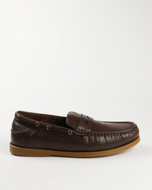 Luciano Rossi Casual Slip On Shoe Coffee