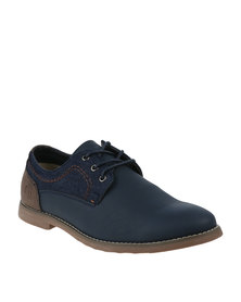 Luciano Rossi Casual Lace Up Shoes Navy