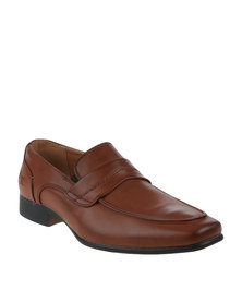 Luciano Rossi Formal Slip On Shoes Brown