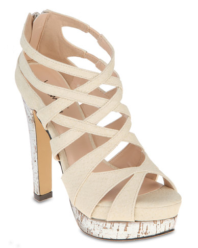Luichiny Heeled Sandals Natural Beige