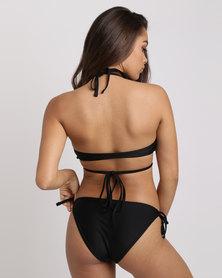 Lulu Wrap Top Black