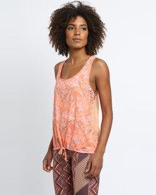 Maaji Palm Brush Top Orange