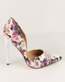 Madison Leah Pointed Pumps Floral