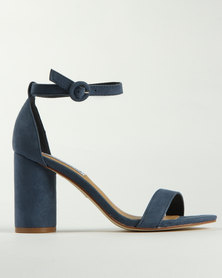 Madison Albany Block Heel Sandals Blue