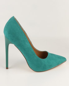 Madison Chantelle Pointed Pumps Emerald Green