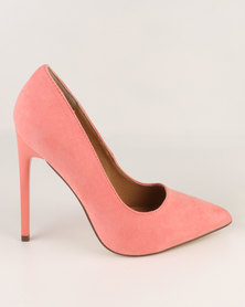 Madison Chantelle Pointed Pumps Coral