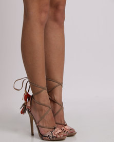 Madison Rayleigh Heel Sandals Nude Multi