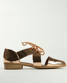 Madison George Cutout Brogues Gold