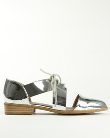 Madison George Cutout Brogues Silver