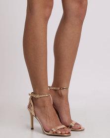Madison Sandi Heel Sandals Gold