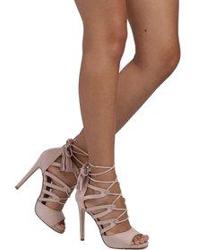 Madison Diana Lace-Up High Heel Mauve