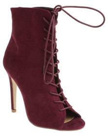 Madison Teresa Heeled Boot Burgundy