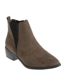 Madison Carole Heeled Ankle Boot Olive