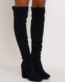 Madison Stephanie Over The Knee Boot Navy