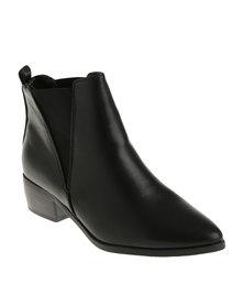 Madison Carole Heeled Ankle Boot Black