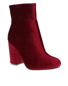 Madison Hailey Heeled Boot Burgundy