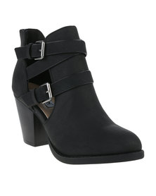 Madison Lacey Heeled Boot Black