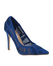 Madison Kayleigh Lazer Cut High Heel Cobalt Blue