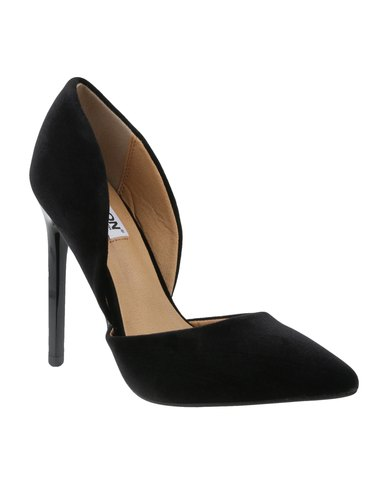 Madison Leah High Heel Velvet Black