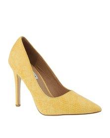 Madison Tribeca High Heel Snake Lemon